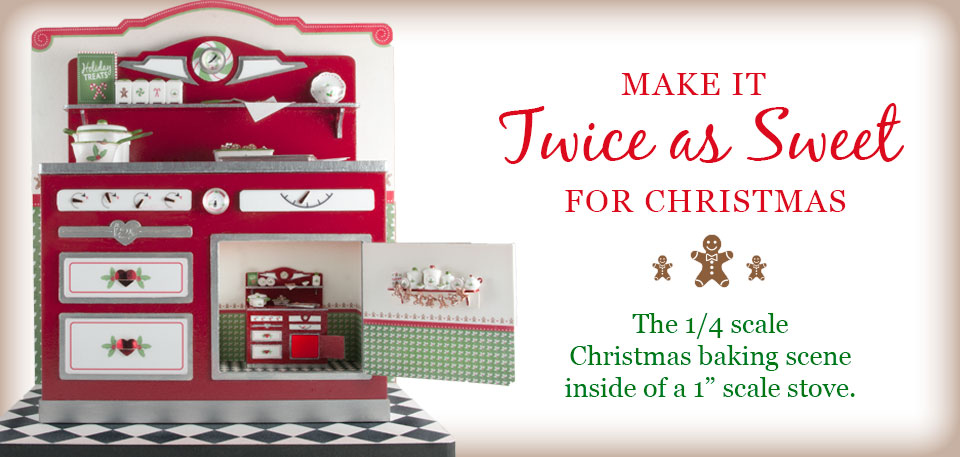 Twice as Sweet Christmas Stove Vignette Kit